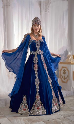 Dark Blue Panels Velvet Tulle Cape Cut Out Detail Ottoman Sultan Caftan Dresses 3 300x500 - Home