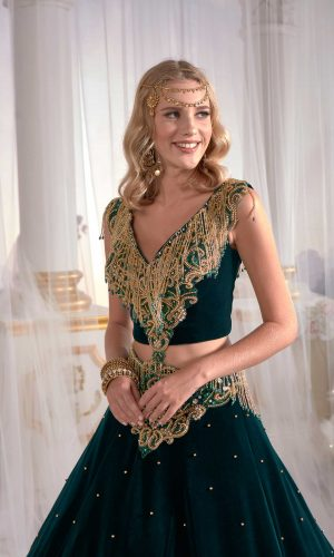 Dark green Golden embroidery kaftan dress online shop buy long evening dress 3 300x500 - Home