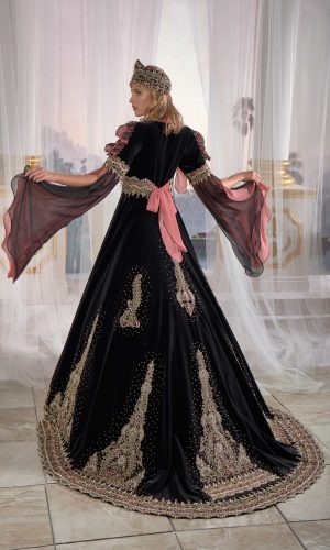 Exclusive Black Chic Caftan Set Slit Velvet Delicate Sequins buy online evening dress shopping maxi gowns online 1 300x500 - Home