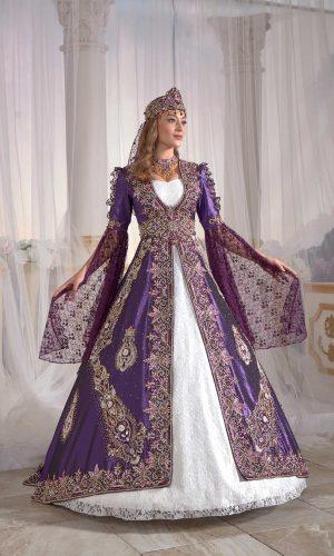 turkish traditional bridal long kaftan abaya maxi dress ottoman clothing