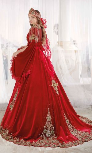 Luxury exclusive Chic Caftan Set Velvet Delicate Sequins buy online evening dress shopping maxi dress online shopping ottoman caftan dress 2 300x500 - Red Luxury Exclusive Crystal Gowns Dresses Golden Embroidery Handwork Sequins Lace Appliques