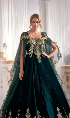 Velvet Dark Green Caftan Buy Online Evening Dress Luxury Golden embroidery 3 300x500 - Home