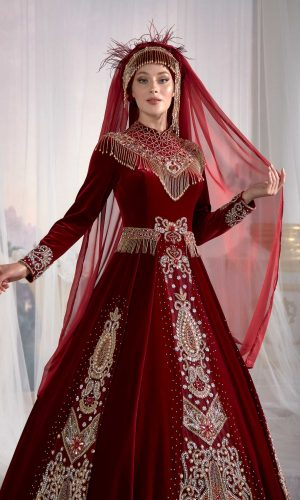 kaftan dresses online shop red muslim dress hijab clothing party dress 2 300x500 - Home