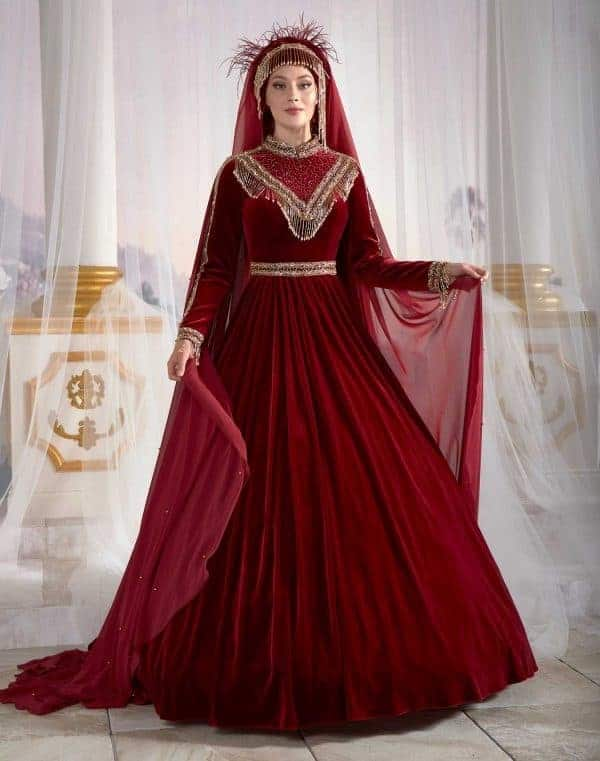 red caftan dress - Traditional Turkish Kaftans